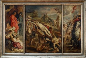 Triptych of Christ on the cross by Rubens, looted by the Nazis.